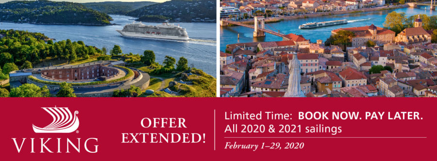 Viking Limited Time Book Now Pay Later sale. Click to learn more